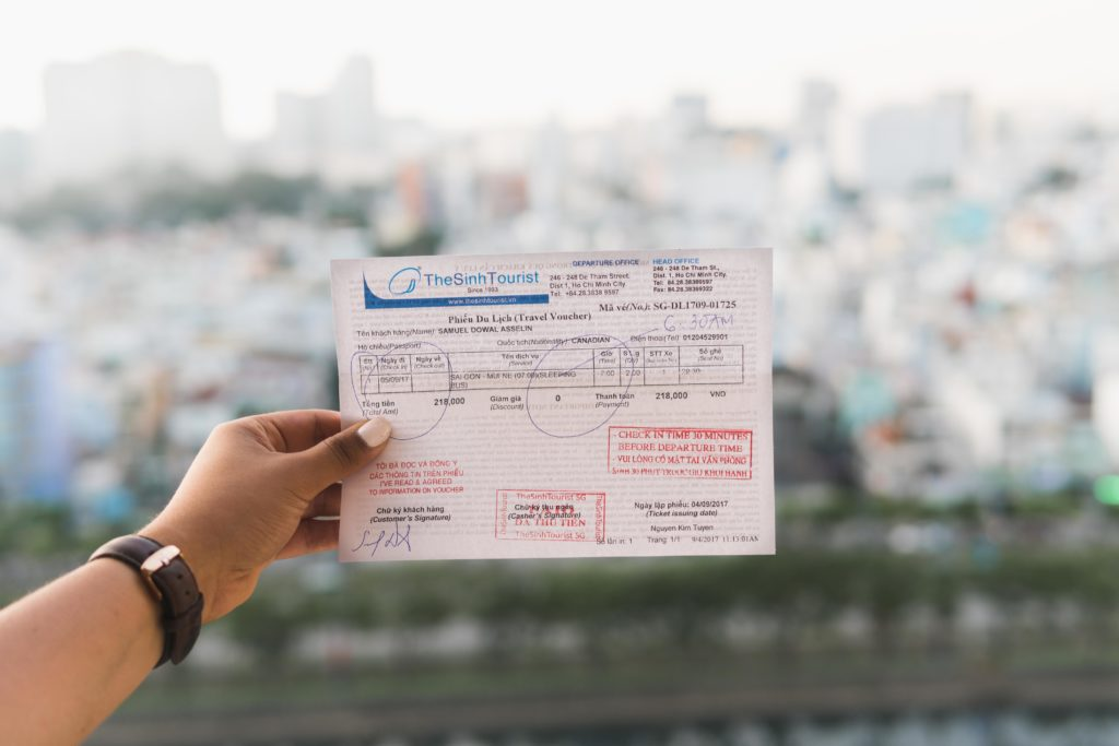 Bus ticket from ho chi minh city