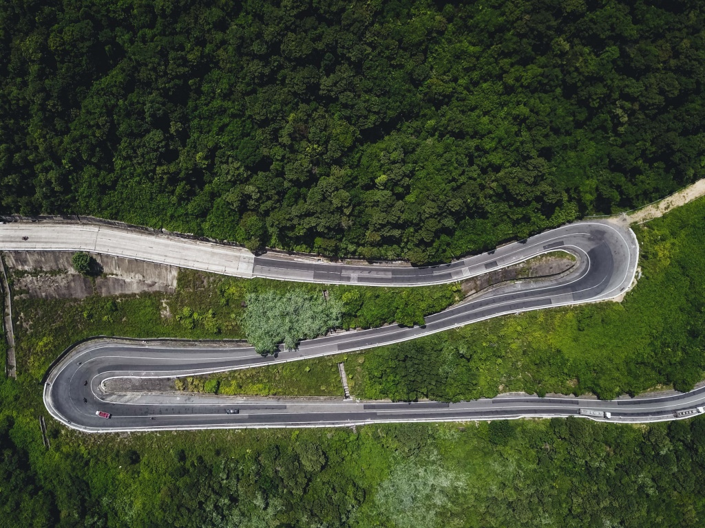 Drone photography from the hai van pass in vietnam