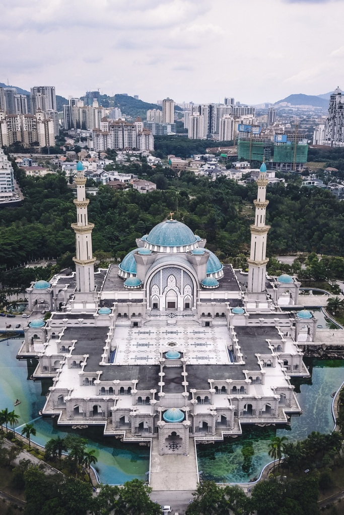 DJI Mavic shot of the Masjid Wilayah in Kuala Lupur
