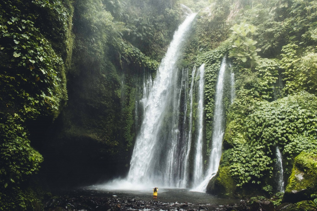 Tiu Kelep waterfall Indonesia