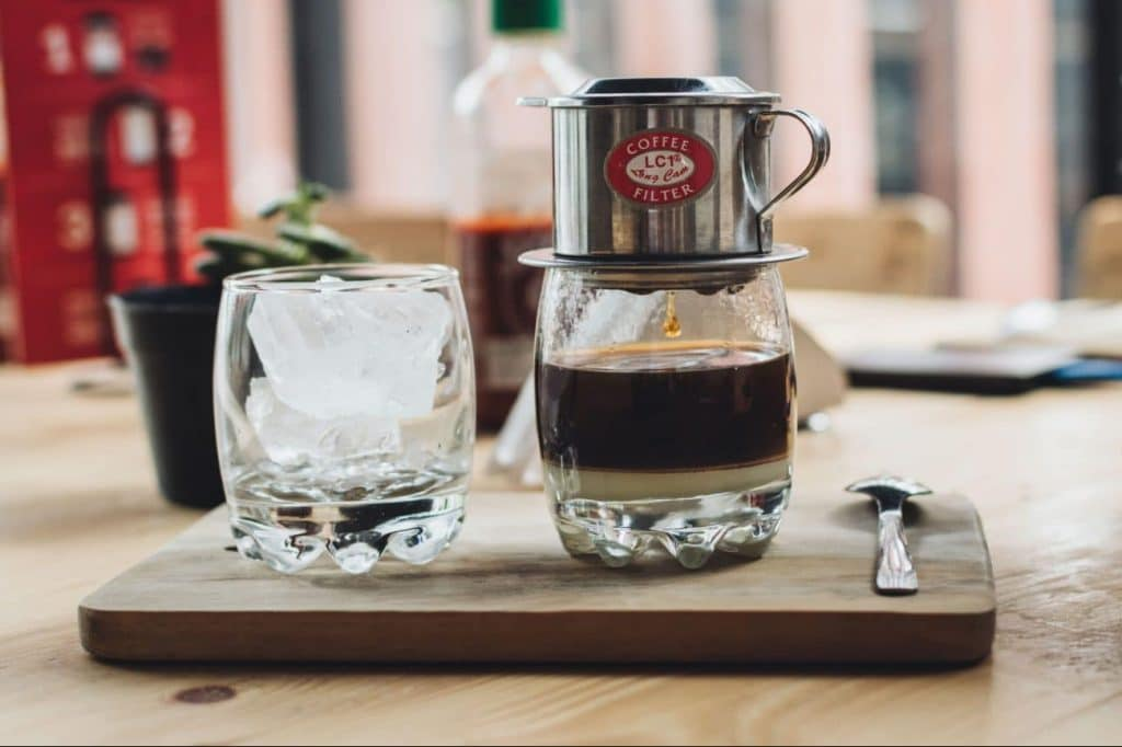 Vietnamese coffee from Banh Mi & Beans