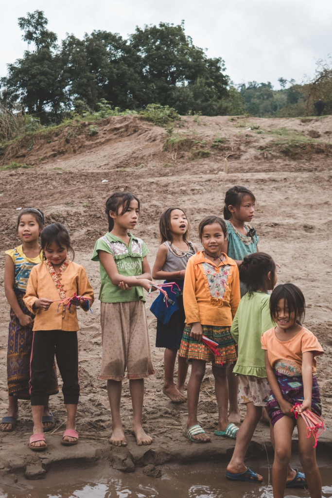 Laos children in local village