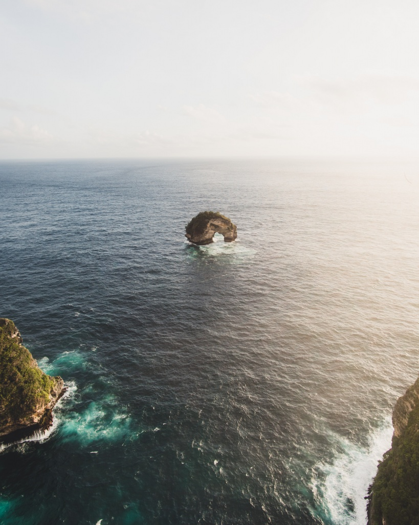 Nusa Penida door seen from cliffs above