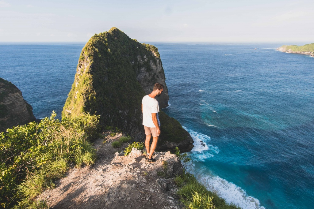 Kelingking view point on nusa penida bali