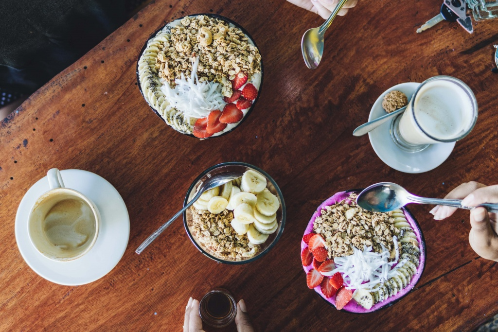 Smoothie bowl breakfast on Nusa Penida