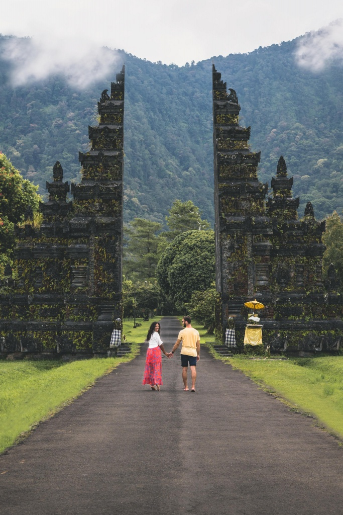 Famous Bali Gates at Handara Golf Resort