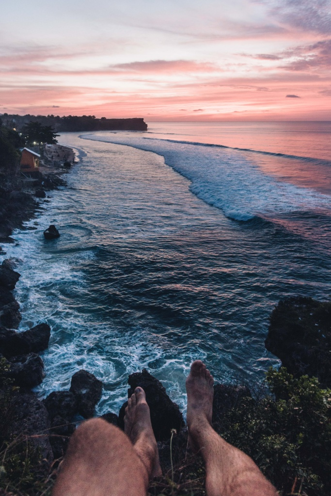 balangan beach sunset viewpoint uluwatu