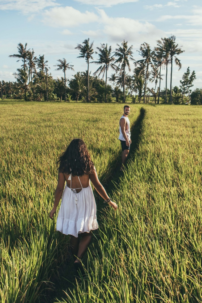 exploring the rice fields bali