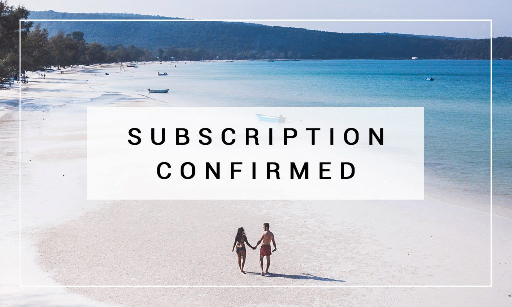 email subscription confirmation image beach travel blog