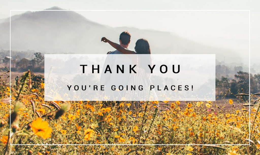 travel blog thank you subscription image