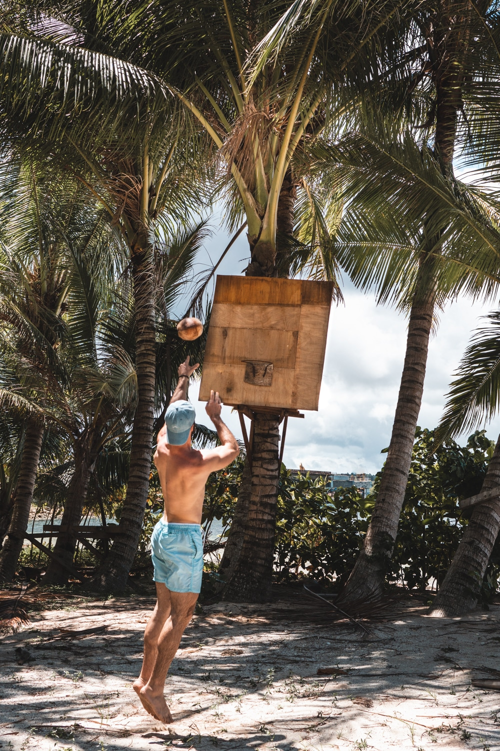 philippines tropical island basketball court