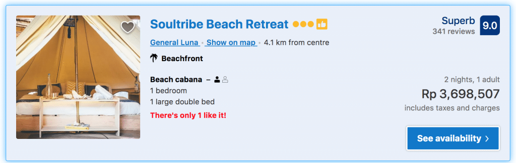 booking soultribe beach retreat siargao