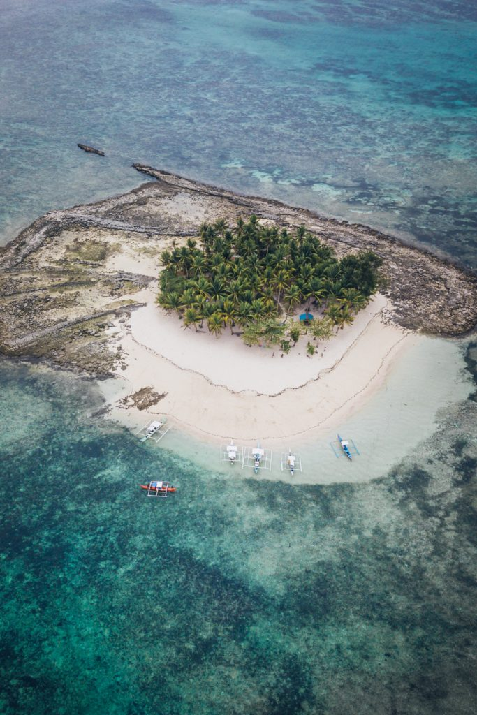 guyam island in the philippines drone photo