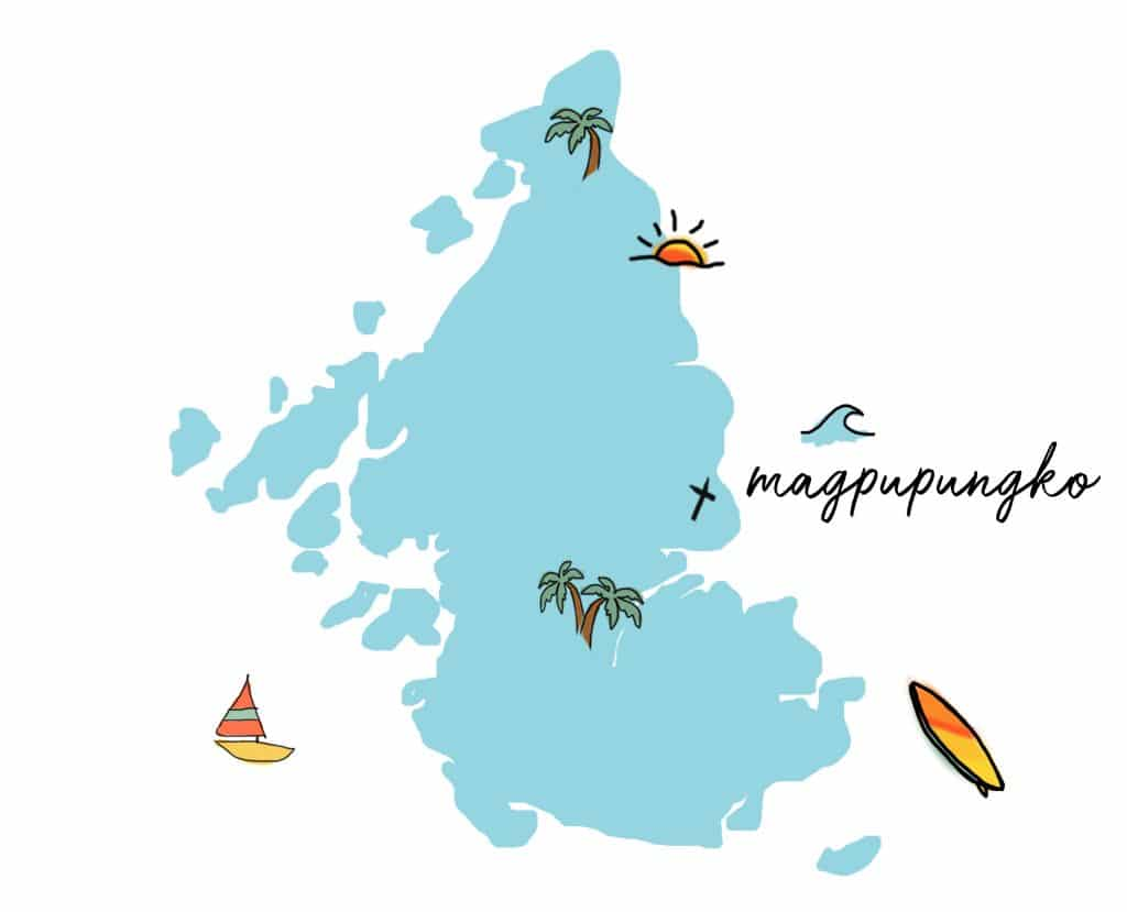 Map of Siargao Island Philippines