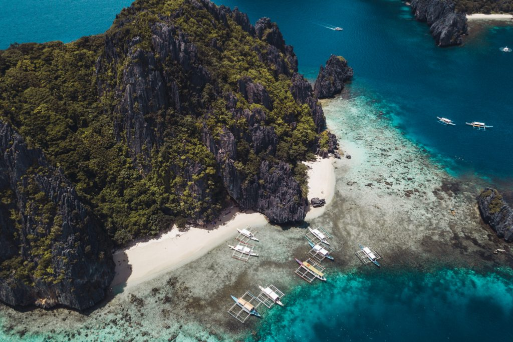 Drone view of El Nido