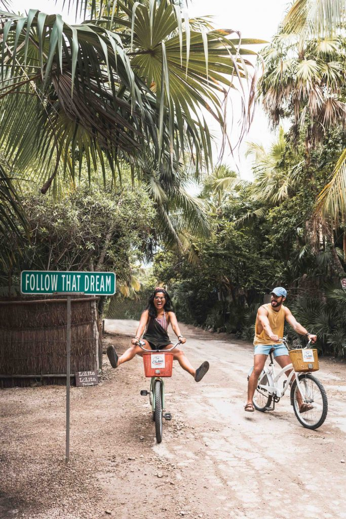 renting bikes in Tulum Mexico to explore the city