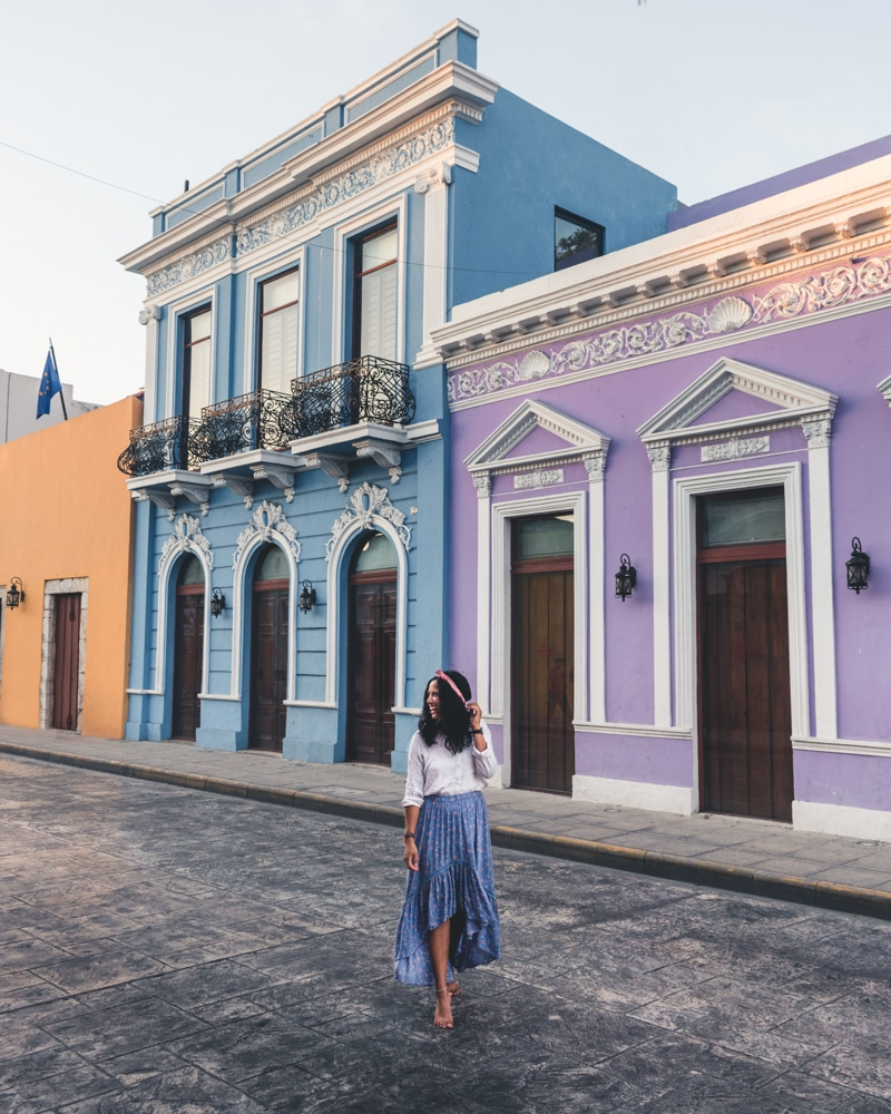 The colourful streets of Merida in the Yucatan