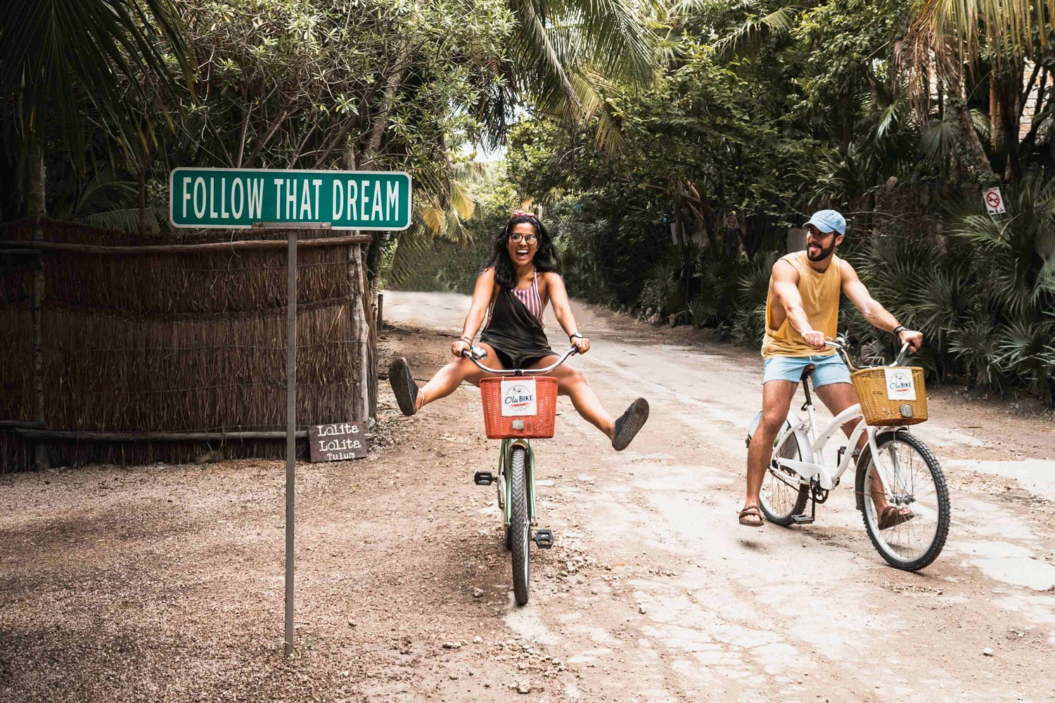 Biking around tulum mexico dirt road