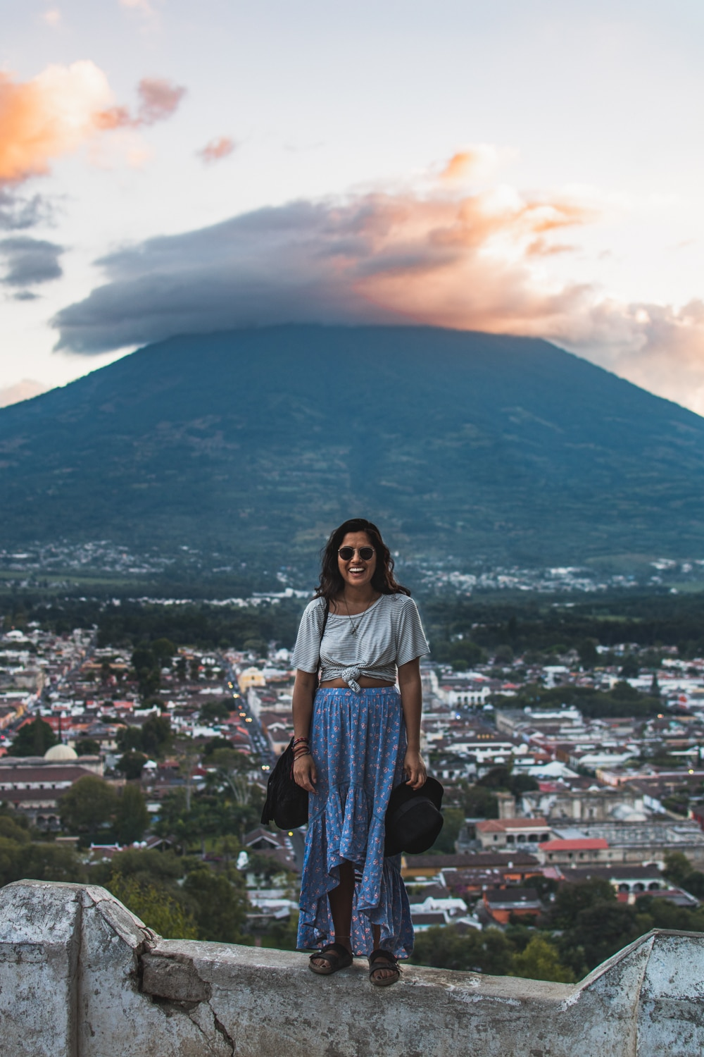 Girl at cerro de la cruz sunset