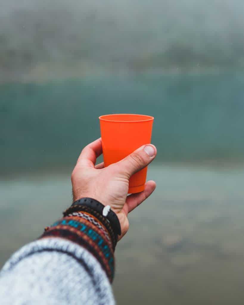sipping cocoa tea near humantay lake in peru