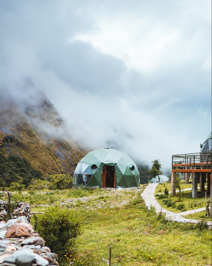 incredible dome cabin on the inca trail in peru