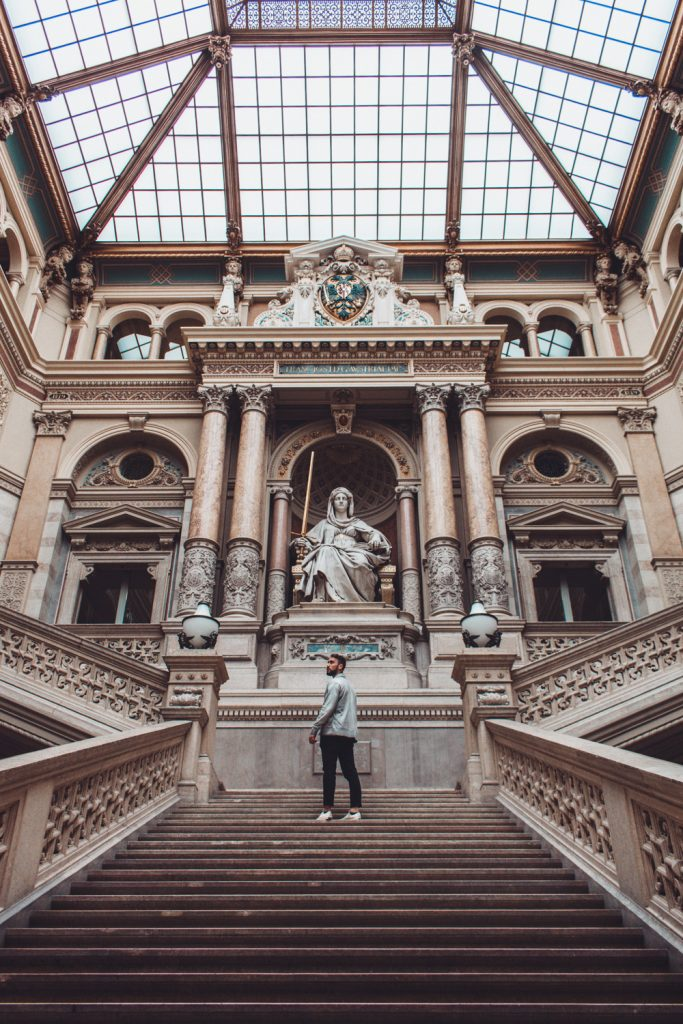 visiting the justice palace in vienna