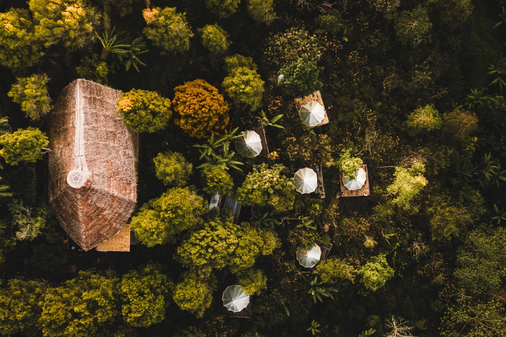 ekommunity farmstay and yoga glamping in bali from above
