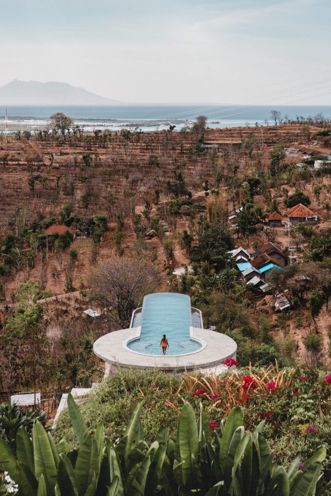 infinity pool at sumberkima hill