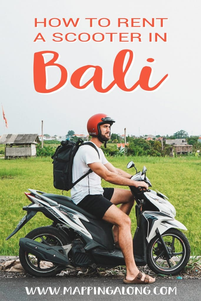guy riding a scooter in bali. how to rent a scooter in bali.