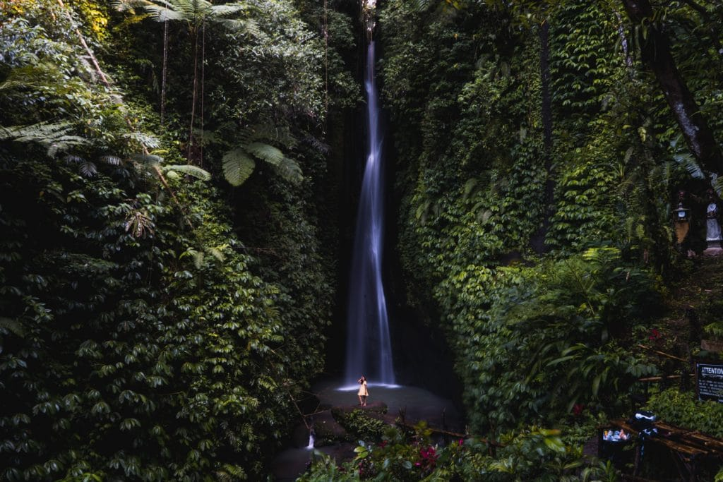 best waterfall in bali indonesia leke leke