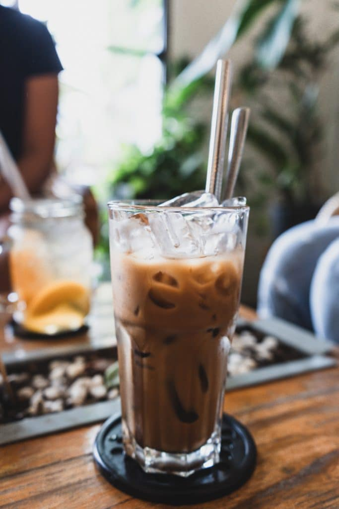 Vietnamese iced coffee at The Cafe Apartments in Saigon