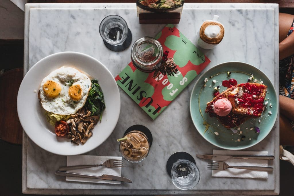 ho chi minh city best coffee shops breakfast spread at cafe l'Usine Le Loi