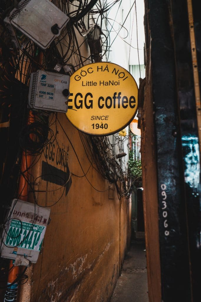 Goc Ha Noi coffee shop in saigon alley