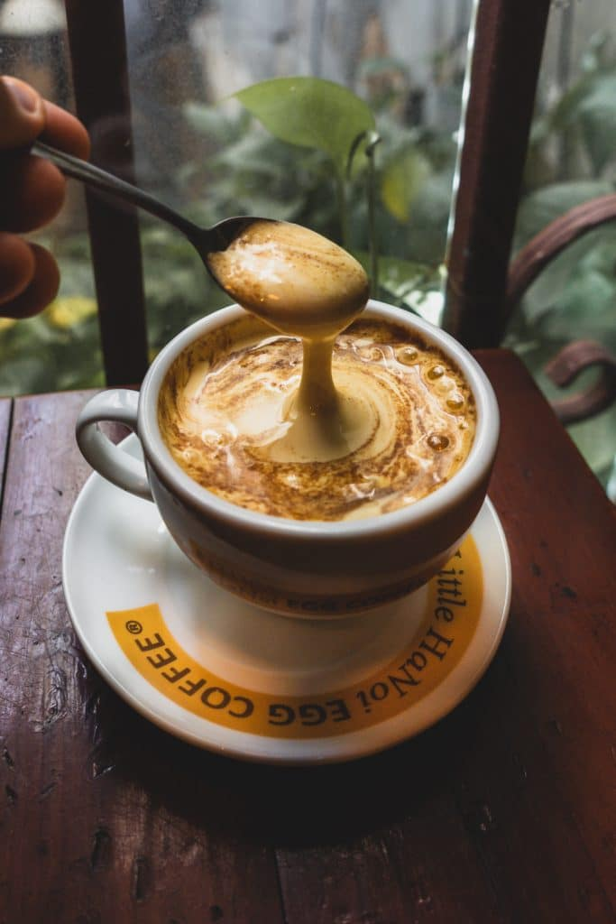 Cup of the Best egg coffee in Ho Chi Minh City from goc ha noi