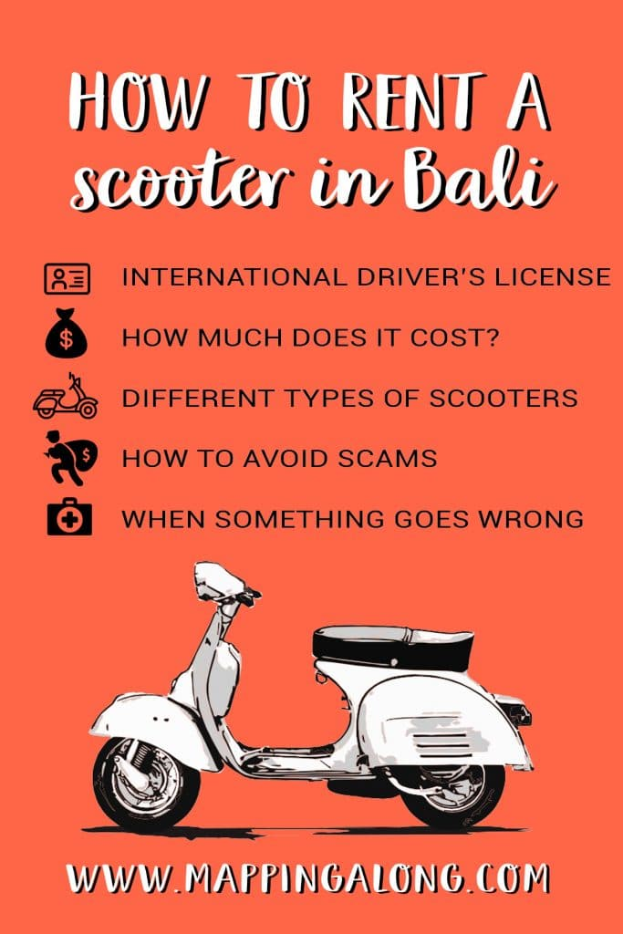 how to rent a scooter in bali infographic