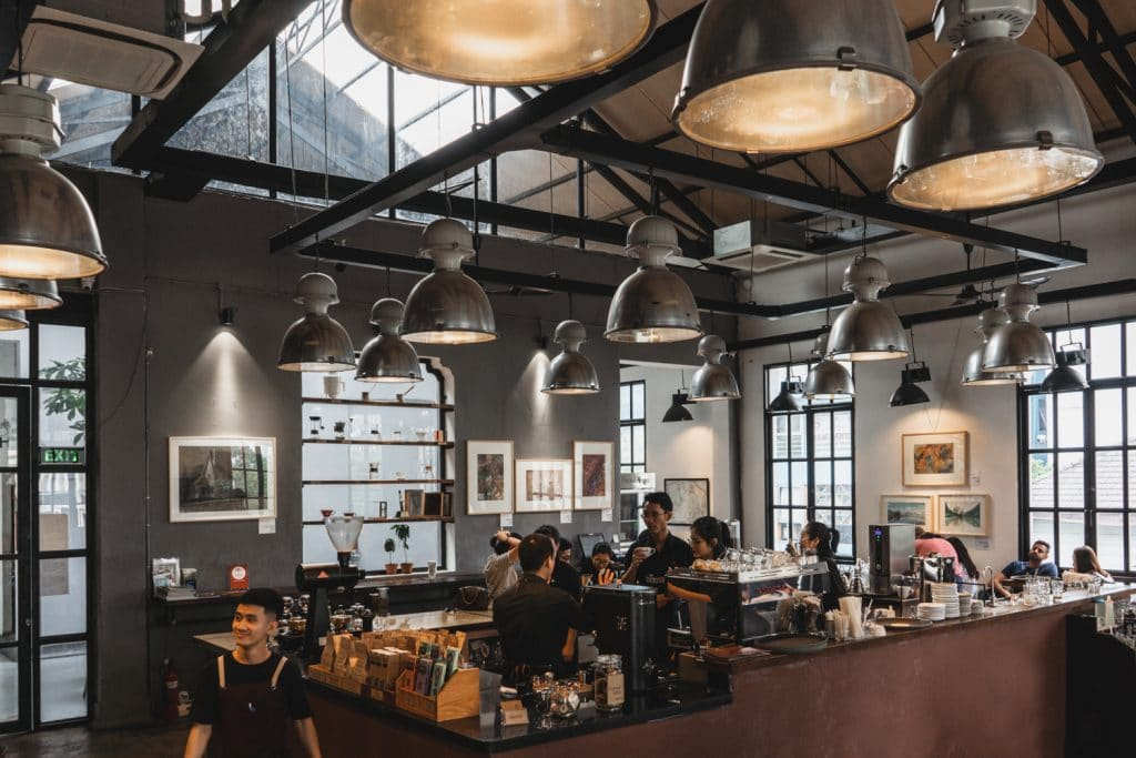 Interior of Workshop Cafe on of the best coffee shops in Saigon